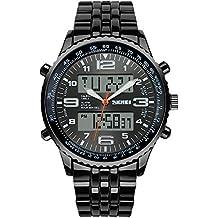 SunJas Reloj de pulsera resistente con pantalla luminosa LED, multifunción, con pulsera electrónica,
