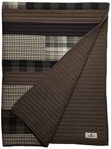 Woolrich Inc. WR50-1784Winter Plains Gesteppte Tagesdecke, 127x 177,8cm Tan Woolrich Throw