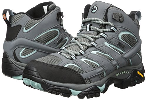 Merrell Women's Moab 2 Mid Gore-tex High Rise Hiking Boots, Grey (Sedona Sage), 6.5 UK (40 EU)
