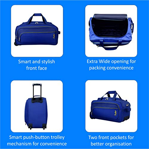 Skybags Scot Plus Polyester 64 cms Blue Travel Duffle (DFTSPE64BLU) Image 7