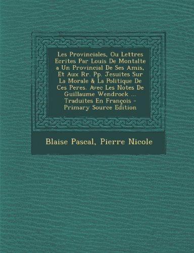 Les Provinciales [Pdf/ePub] eBook