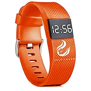 Zolimx Fitness LED Digitaluhr Herren Damen Mode Digital Sportuhr Unisex Silikon Band Armbanduhren
