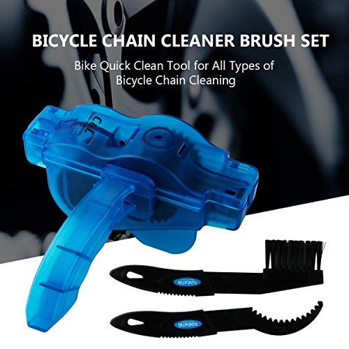 Fahrrad Kettenreinigungsgerät, Fahrrad Kettenreiniger | Kettenreinigung | Zahnkranz Cleaner | Bicycle Chain Cleaner, Schnelles sauberes Werkzeug für Alle Arten von Fahrrad Kettenreinigung (blau) - 5