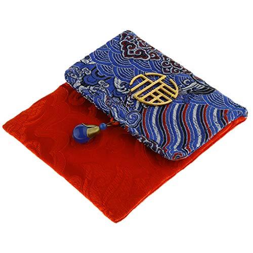 age Chinesische Traditionelle Glückliches Geld Rote Umschläge für Neujahr Hochzeit - Wave Blue ()