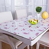 PVC-Kunststoff Transparent Matt Weichem Glas Kristall Platte Tischset Tischauflage Transparent Tischdecke Tischset Tischset (Muster : 11, Größe : 70x130cm(28x51inch))