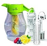 Fruit & Tea Infusion Geschmack Krug–Frei-Ei Rezept eBook–Wasser & Tee-Ei Krug inkl. 3Teesieb für Obst, Tee und Eis, den Geschmack zu verbessern von Wasser–Perfekt für Detox & Gewicht Verlust