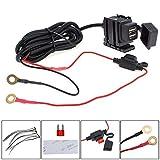 Double USB 12V étanche Moto Guidon Power Chargeur Alimentation Port Prise pour téléphone Portable/GPS/MP4