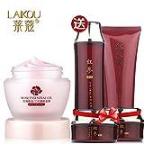 Generic [Buy 1 Get 5] Laikou Rose Essential Oil Face Mask Skin Care Set, Moisturizing Cream, Cleanser, Toner, Foundation Cream Beauty