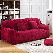 YHviking Funda de sofá se extienden,Felpa Color sólido Fundas de sofá,Toalla de