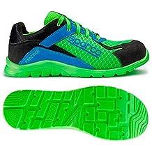 Sparco 0751742VFAZ Zapatillas, Verde/Azul, 42