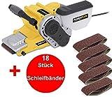 PROFI Bandschleifer Bandschleifmaschine + 18 Schleifbänder Schleifmaschine