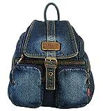 Ichic Boutique(TM)Sac à Dos Loisir Cartable en jeans pour Filles Femmes Scolaire Voyages Shopping,Bleu...