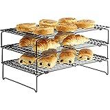 Vonshef Sistema apilable de enfriamiento de bandejas de 3 niveles, anti-adherente – uso individual o apilable para ahorrar espacio en la cocina