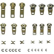 ACXOPT - Kit de reparación de cremalleras con 30 cremalleras de repuesto