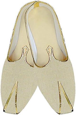 INMONARCH Yute Beige Hombres Boda Zapatos Étnicas MJ014143