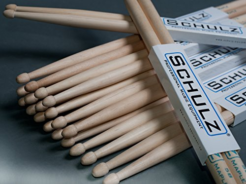 3 Coppia SCHULZ Maple di Drum Sticks 5B