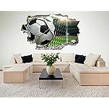 Fussball Tor Ball 3D Look Wandtattoo 70 x 115 cm Wanddurchbruch Wandbild Sticker Aufkleber DesFoli © C412