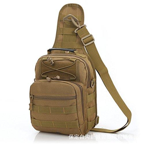 BULAGE Paket Farbe Große Kapazität Mode Sport Schulter Brust Tasche Militärische Fans Tarnung Outdoor Freizeit Diagonal Reiten Khaki