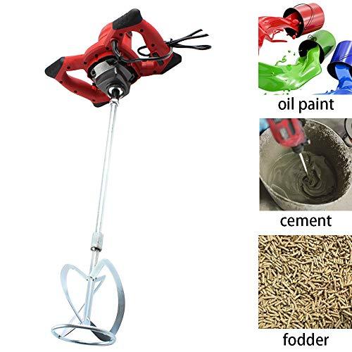 ETE ETMATE Elektrische Handbetonmischer 1800W zum Mischen von Zement, Thinset-Mörtel, Trockenmauerschlamm, Farbe, Geschwindigkeit einstellbar