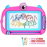 Peradix Lavagna Magnetica per Bambini - Tavola da Disegno Cancellabile Lavagnetta Magica- Giocattolo Educativo e Creativo a 4 Colori - Regalo per Bambini, Giocattoli Educativo, Portatile (Rosa Viola)