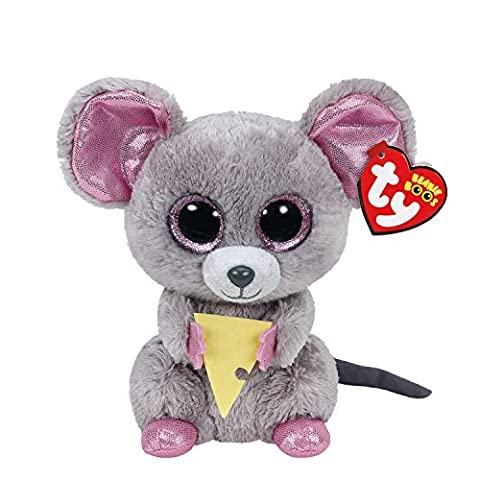 Ty Girls and Womens Beanie Boos Small Squeaker The Mouse Soft Toy