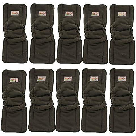 Ohbabyka 3/4/5couches pour bébé en bambou réutilisables Sacs pour couches en tissu