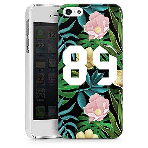 Apple iPhone X Silikon Hülle Case Schutzhülle College 89 Blumen Hard Case weiß