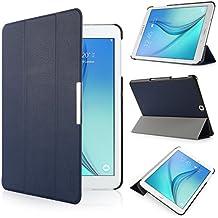 iHarbort® Samsung Galaxy Tab S2 9.7 Funda - ultra delgado ligero Funda de piel de cuerpo entero para Samsung Galaxy Tab S2 9.7 T810 , con la función del sueño / despierta (Galaxy Tab S2 9.7, azul oscuro)