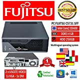 MINI PC SLIM FUJISTU C5731 E8400 3.0GHZ/RAM 4GB/HD 250GB/DVD+RW/WIN 10 PRO (Ricondizionato) )