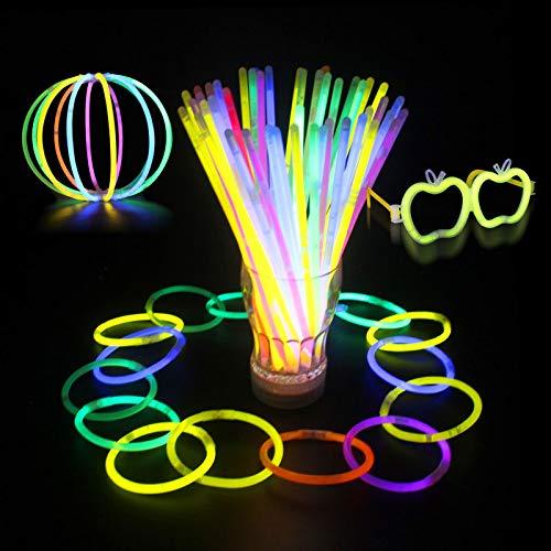 Global Brands Online 100 stücke Multi Farbe Ritium Glow Sticks Dark Party Lichter Armbänder Knicklichter Hochzeit Dekorationen