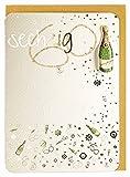 Geburtstagskarte zum Sechzigsten 60. Champagner Goldschrift