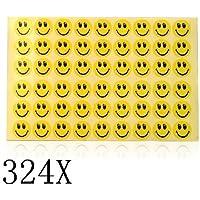 SODIAL(R) 324 piezas Pegatinas de Carita Sonriente para Ninos
