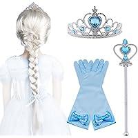 Vicloon - Set de Déguisement de Filles pour Costume d'Elsa