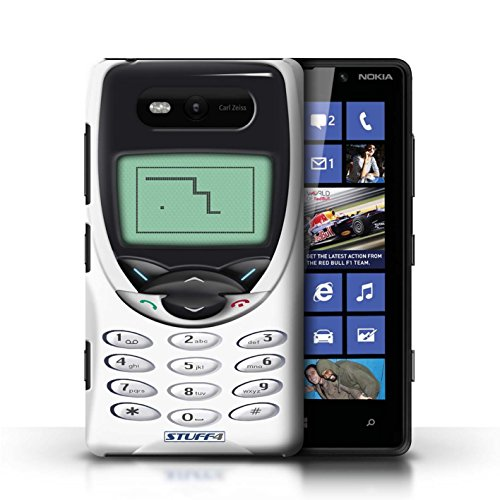 Hülle Case für Nokia Lumia 820 / Schwarzes Nokia 8210 Entwurf / Vintage Handys Collection Weißes Nokia 8210