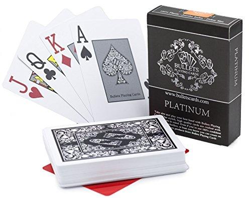 s Premium Profi Plastik Pokerkarten Platinum mit Zwei Eckzeichen - Deluxe Kartenspiele mit Jumbo Index - Profi Premium Spielkarten für Texas Holdem Poker ()