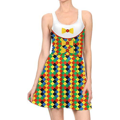 ZGCP Halloween Kostüm Kleid Zirkus Clown Kostüm Kleid WTLY1002 - Sally Kostüm Muster
