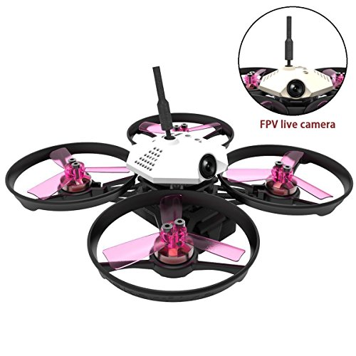Rüstung 90 BNF FPV Racing Drone 90mm Micro Brushless Quadcopter mit FPV Kamera Frsky Receiver Breather up (weiß)