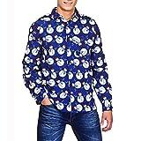 Herren Weihnachten Shirts,Binggong Herren Herbst Winter 3D Weihnachten Drucken Langarm dünnes Hemd Top Bluse
