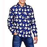 DOLDOA Christmas Tops For Mens Casual 3D Print Long Sleeve Slim Autumn Winter Shirt Top BlouseM 2XL