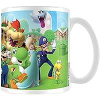 """Taza de cerámica para té o café, Pyramid International, """"Super Mario (Mushroom Kingdom)"""" oficial, multicolor, de 315ml"""