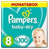 Pampers Baby-Dry Windeln, Gr. 8, 17+  kg, Monatsbox, 1er Pack (1 x 100 Stück)