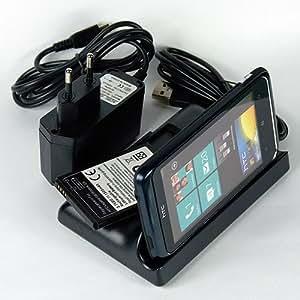 ABZ-S Docking Station für HTC Desire Z mit extra Akku-Ladefach + Zusatzakku