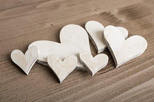 koration Basteln DIY gemischt Pack von City zu Cottage, holz, weiß, White Heart (Nautische Einladungen)