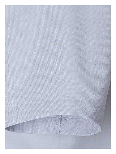CASAMODA Messieurs Chemise d'affaires Également disponible en grandes tailles 100 % coton gris clair