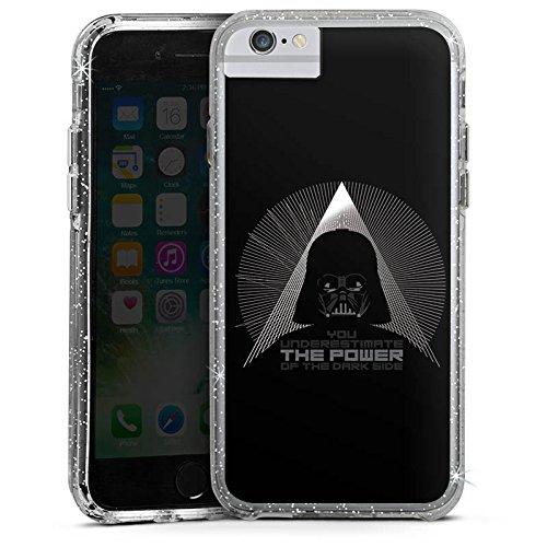 Apple iPhone X Bumper Hülle Bumper Case Glitzer Hülle Star Wars Fanartikel Zubehoer Darth Vader Bumper Case Glitzer silber