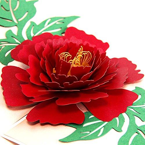 Biglietto auguri san valentino compleanno 3d pop up cartolina auguri san valentino birthday card biglietto d'auguri 3d pop up valentine's day thank you card