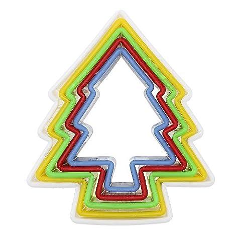 HuaYang ?1 Set Kunststoff DIY Weihnachtsbaum Keks Schneider Kuchenform Rand Ausstecher Küchenwerkzeug