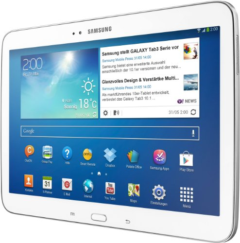 Best Price Samsung Galaxy TAB 3 10.1 P5210 WI-FI 16GB Intel ® 16 GB 1024 MB Android 10.1 -inch LCD- white