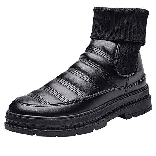 Chaussures Homme, Manadlian Imperméables Bottes Chaudes Résistantes à l'usure Bas épais Boots Classiques Courts Martin Bottes pour Homme