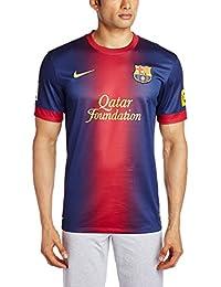 Nike Barcelona F.C. - Camiseta de fútbol para hombre, 2012-13, talla XL, color azul / rojo